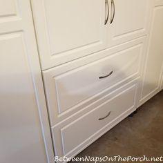 Ameriwood System Build Cabinet, Defective Sagging Drawer Front