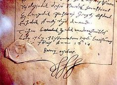 A signed letter from Elizabeth Bathory. She was one of the inspirations for Dracula and possibly the most prolific serial killer in history.