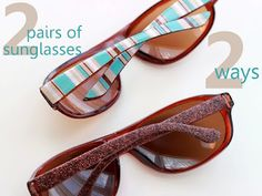 now why didn't I think of that? change the look of my sunglasses with modge podge & scrapbook paper!
