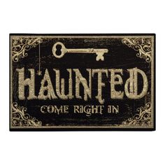 Haunted Home mat 18x27 now featured on Fab.  Would also make a cute Halloween sign using a Silhouette.