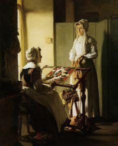 Claude Joseph Bail (1862-1921)  Early Morning Conversation