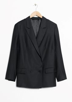 & Other Stories image 2 of Double Breasted Blazer in Black