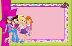 Polly Pocket: Free Printable Invitations, Labels or Cards.