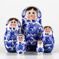 Blue & White Nesting Doll