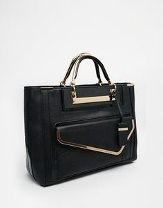 Image 2 of River Island Asymmetric Front Pocket Tote