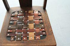 leather belt chair by blake sloane