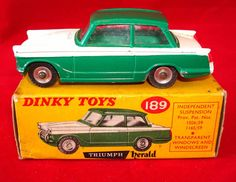 Dinky Toys No.189 Triumph Herald. I had one of these but the Corgi Toys Coupe was a lot better