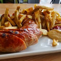 """@tendergreenskingst: """"#tgkingst Berliner Currywurst with Kennebec Fries Garlic aoili with a salad of Fresh First of the year CA Asparagus and Mustard Greens! #soma #sf #eatstagram #yumstagram #fresh #sfwine #decadent #eatfresh #homesweethome #california #farmtofork #farmtotable #local #goodeats #foodie #grubbin #yelp #sf"""""""