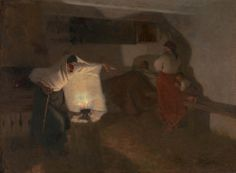 """""""Breaking the Spell"""" by Stanisław Grocholski (Polish; 1858-1932), oil on canvas; The Silesian Museum in Katowice."""