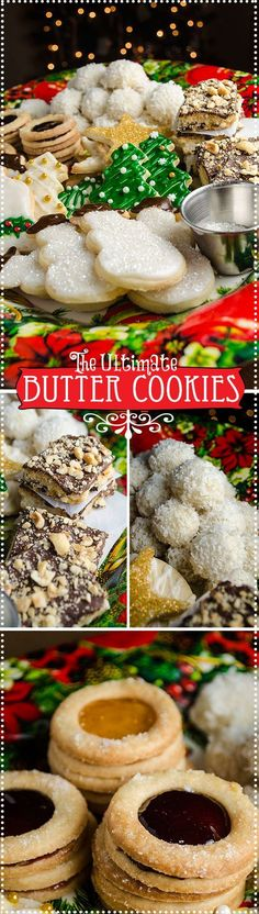 This recipe is so versatile the same basic dough can be made into a lovely variety of cookies, from jam filled sandwiches to snowballs to chocolate bar cookies. Butter cookies with the perfect consistency and delicious too!
