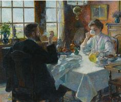Ferdinand-Georges Lemmers - A Cup of Coffee