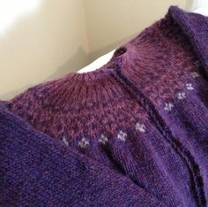 Purple Icelandic sweater
