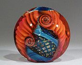 Devinely red- Art Glass 37mm Focal bead- lampwork by Astrid Riedel