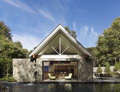 Casa abierta a la piscina