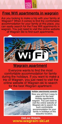 Free Wifi apartments in wagrain for Holidays Free Wifi, Your Family, Apartments, Finding Yourself, Holidays, How To Make, Holiday, Soul Searching, Holidays Events
