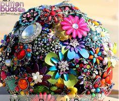 Button & brooch bouquet!