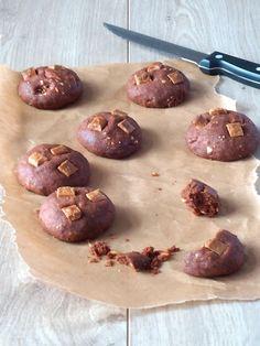 Chocolade koekjes met witte chocolade van Uit Pauline's keuken. Lekker!