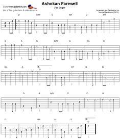 Ashokan Farewell - easy guitar tablature Ashokan Farewell, Easy Guitar Tabs, Lead Sheet, Backing Tracks, Thing 1, Guitar Lessons, Sheet Music, Lyrics, Songs