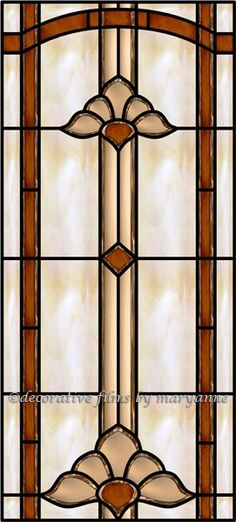 Interior faux stained glass window film to little for Victorian stained glass window film