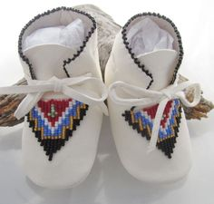Native American Beaded Baby Moccasins for by AuthenticNativeMade, $58.00