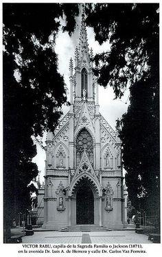 Iglesia de Atahualpa. Capilla Jackson, 1910 - Fotos de Montevideo antiguo (2) - Departamento y ciudad de Montevideo - URUGUAY.  by sección áurea, via Flickr