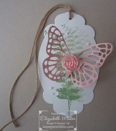 Stampin up Butterfly basics stamp set. Butterfly thinlits die. sizzix. butterfly tag