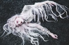 White and silver   hair