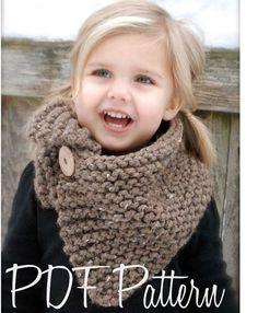 Knitting PATTERNThe Boston Cowl Child Adult by Thevelvetacorn, $5.50