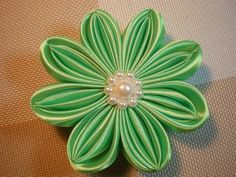 Цветок Канзаши мастер- класс. / DIY Flowers - YouTube