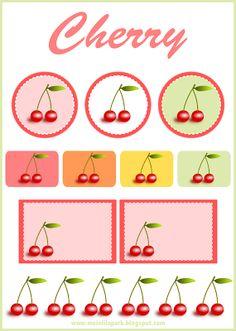free digital cherry scrapbooking embellishment and printable tags – Clipart Kirsche – freebie | MeinLilaPark – digital freebies
