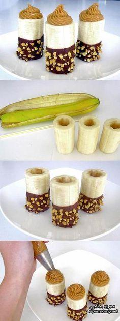 Idee simple et original pour une banane horriblement delicieusrs