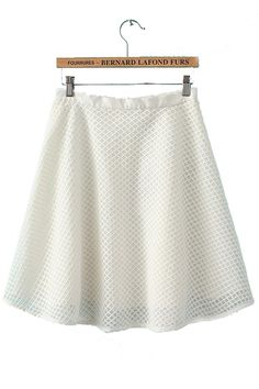 Lace Mesh Skirt with Rhombus Plaid [DLN0709] - PersunMall.com