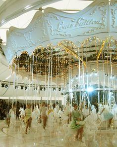 Marc Jacobs' version of Parisian carousel, Louis Vuitton spring 2012