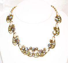 Vintage Signed Florenza Necklace by LustfulJewels on Etsy