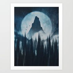 Find your mountain Art Print by HappyMelvin | Society6