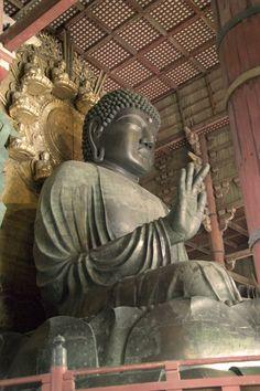 Todaiji Daibutsu [ Great Buddha  of Todaiji ]; Size: 14.98 metres ( 49.1 ft ), Nara, Japan