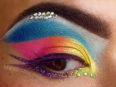 rhinestone eye makeup | Maryam Maquillage !: Marilyn Makiaj isn't afraid of color!