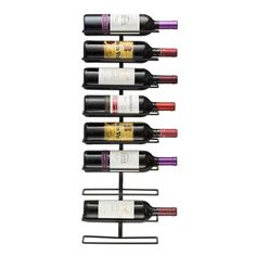 9 Bottle Wall Mounted Wine Rack