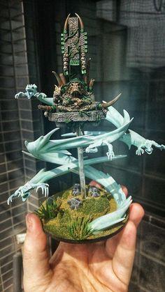 Warhammer Paint, Warhammer Models, Warhammer Fantasy, Lizardmen Warhammer, Warhammer 40000, Miniature Bases, Miniature Figurines, Fantasy Paintings, Mini Paintings