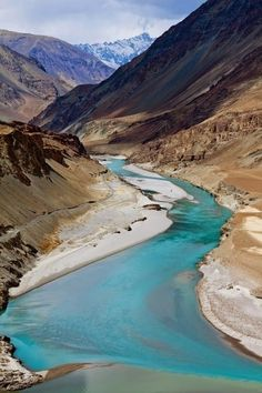 of Zanskar and Indus rivers - Leh, Ladakh, India.Confluence of Zanskar and Indus rivers - Leh, Ladakh, India. Varanasi, Ladakh India, Leh Ladakh, Places To Travel, Places To See, Terre Nature, Rishikesh, Bhutan, Tibet