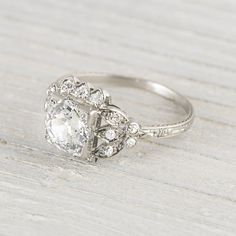 1.54 Carat Vintage Art Deco Engagement Ring  I'm obsessed with art deco rings!