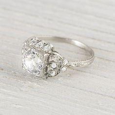 1.54 Carat Vintage Art Deco Engagement Ring