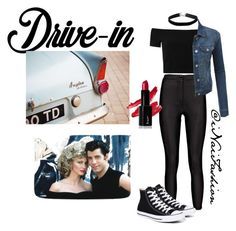 """""""Untitled #437"""" by inaifashion ❤ liked on Polyvore featuring Alice + Olivia, Converse, Miss Selfridge, LE3NO, DateNight, drivein and summerdate"""