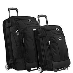 """eBags Value Set: TLS Junior 25"""" + TLS Mini 21"""" Wheeled Duffels - Solid Black - via eBags.com!"""