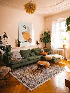 Home Interior Design .Home Interior Design Boho Living Room, Home And Living, Cozy Living Room Warm, Colourful Living Room, Living Room Colors, Small Living Rooms, Teal And Orange Living Room Decor, Earth Tone Living Room Decor, Living Room Decor Green Couch