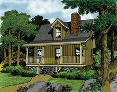 Eplans Cottage House Plan - Vacation Retreat - 484 Square Feet and 1 Bedroom from Eplans - House Plan Code HWEPL05755