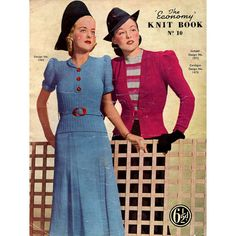 1940s Vintage Knitting Patterns for Women by BessieAndMaive
