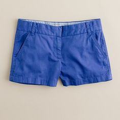 "Every year I get a new pair of J. Crew's chino shorts, 3"" insem. Maybe this year it'll be the casablanca blue, with a lemon yellow and white striped tee."