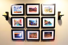 Travel Gallery Wall | Kevin&Admanda...this is a great idea...where can I fit this in my house?