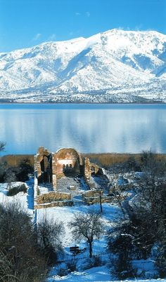 Prespes Lake, Ruins of Saint Achillios, Florina in North West Macedonia, Greece Mykonos, Santorini, Ancient Ruins, Ancient Greece, Albania, Montenegro, Beautiful Islands, Beautiful Places, Paros